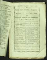 """""""Town And Country Magazine For December 1784"""".  Caricatures & Dr Samuel Johnson Interest. - Literary"""