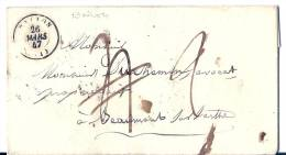 De Ballon (Sarthe) Pour Beaumont Taxe 4 Annulée Remplacée Par 2 - 1801-1848: Voorlopers XIX