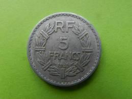 Piece De 5  Francs 1945 B - France