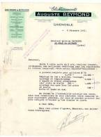 Lettre Commerciale, Ets Auguste Reymond, Grenoble, Usine Moderne De Rectification - France