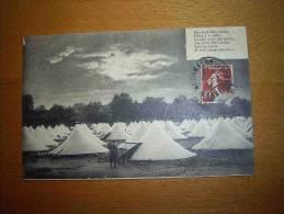 CPA Militaria Tentes Militaires Cachet Mourmelon Juillet 1914 - PORT GRATUIT - Militaria