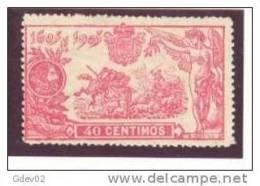 ES262-3145TO.Espagne.Spain. LITERATURA.EL    QUIJOTE   1905 (Ed 262*) Con Charnela.MUY BONITO - Otros