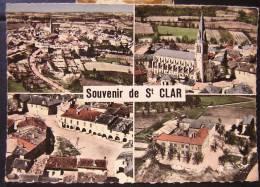 Cpsm SAINT CLAR 32 - Multivues, En Avion Au Dessus De... - France