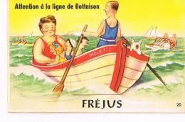 83 - FREJUS  -  Carte Fenêtre  Système Accordéon- 10 Vues -complète- Attention à La Ligne De Flottaison- RECTO VERSO- - Frejus