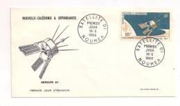 NOUVELLE CALEDONIE   ( NC - 606 ) 1966  N° YVERT ET TELLIER  POSTE AERIENNE N° 87  1er JOUR - FDC