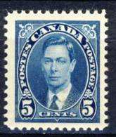 1937 Canada  5 Cents  King George VI Definitive  Stamp MNH   Scott # 235 - 1937-1952 Reign Of George VI
