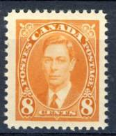 1937 Canada  8 Cents  King George VI Definitive  Stamp MNH   Scott # 236, Very Slight Gum Disturbance - 1937-1952 Reign Of George VI