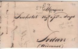 Marque Postale  VOSGES : SAINT-DIE : (Vosges) 82 St DIEY 31 X 11.5 De 1827 - Postmark Collection (Covers)