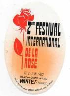 2eme Festival International De La Rose - Juin 1982 à Nantes - Stickers