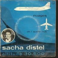 """45 Tours SP - SACHA DISTEL - PHILIPS 372662 -  """" NUAGES """" + 1 ( Hors Commerce ? ) - Vinyl Records"""