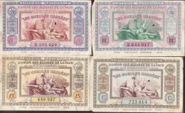 """PETIT LOT DE 19 BILLETS DE LA """"LOTERIE NATIONALE"""" Années1936 à 1950 - Billets De Loterie"""