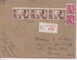 HAUT DE SEINE  -  1939  -  BELLE LETTRE DE ASNIERES  EN RECOMMANDE A DESTINATION DE HASNON ( NORD )  - - Marcophilie (Lettres)