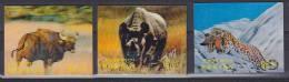 ## Bhutan 1970 Mi. 381-82, 384 Fauna Gaur Spitzmaulnashorn Schneeleopard Rhinoceros Snow Leopard MNH** - Bhoutan