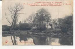 343. Cosqueville, Le Chateau Et L'Etang à M. Le Baron A. D'Espinose - France