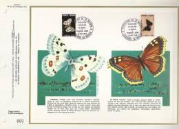 Andorre Feuillet CEF N° 33 - Papillons L'apollon - Le Morio - Illust. André Boudet 76 - 16.10.76 - T. 258 Et 259 - Covers & Documents
