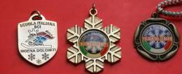 3 DISTINTIVI METALLICI SCUOLE DI SCI ITALIANE - Sports D'hiver
