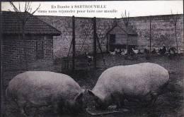 SARTROUVILLE EN BOMBE CARTE TRES RARE - Sartrouville