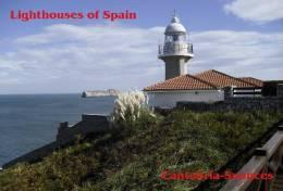 Lighouses Of Spain - Cantabria/Suances Postcard Collector - Faros