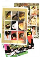 25 Hojas Bloques Diferentes Nuevas , Madagascar , Guinea , Somalia, Tchad ,santo Tome - Sellos