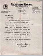 Entête Du 29/04/1921 HUGHES BROS - Vins Liqueurs Cigares - Vancouver - Canada