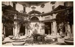 POSTAL DE CIUDAD DEL VATICANO DEL CORTILLO DEL BELVEDERO DEL AÑO 1934  BRUNNER - Vaticano (Ciudad Del)