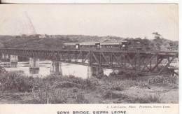 2-Sowa-Sierra Leone-Colonia Inglese-Gran Bretagna-Treni-Ponti-Trains-Ponts-Bridges-v.1906 X Paris-France - Sierra Leone