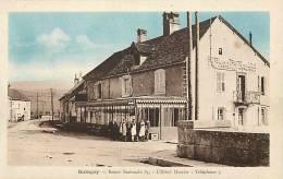 Doubs -ref A443- Quingey - Route Nationale 83, L Hotel Mercier -telephone 5 -carte Bon Etat  - - Altri Comuni