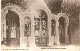 POSTAL DE GENOVA DEL INTERIOR DE LA IGLESIA RUSSE À GENÈVE DEL AÑO 1907 - GE Genève