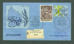 VATICAN VATICANO 1979 AEROGRAMME REGISTERED POPE JOHN PAUL II Travel To NEW YORK USA (WITH NEWS PAPER OF EVENT) (E6006 - Vatican