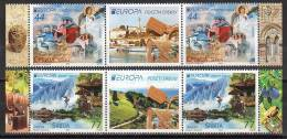 Serbia / Europa 2012 / Set 2 Strips X 2 Val. + Labels - 2012