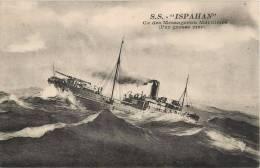 PAQUEBOT ISPAHAN COMPAGNIE DES MESSAGERIES MARITIMES BATEAU BOAT - Steamers