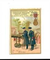 CHROMO - CHOCOLAT  POULAIN  - Les Décorations Françaises &  étrangères  1ère Série -  En RELIEF - N° 3  Ste  HELENE - Poulain
