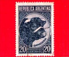 ARGENTINA - Usato - 1942 - Prodotti Del Paese - Allevamento Del Bestiame - Toro - 20 - Gebruikt