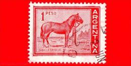 ARGENTINA - USATO - 1959 - Cavallo - Caballo - Cheval - Horse  - Immagini Varie Dello Stato - 1 P - Gebruikt