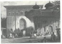 Istamboul ; Reproduction De Gravure Ancienne Carte Grand Format De L'Hôtel Restaurant Celal Sultan - Hotels & Gaststätten