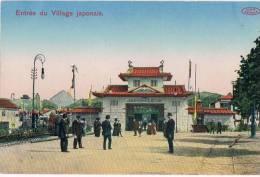 Charleroi 1911 Exposition  Entrée Du Village Japonais - Charleroi