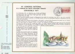 France Feuillet CEF 172 - 44è Congrès National Fédér. Stés Philatéliques Française Grenoble 71 - T. 1681 - Covers & Documents