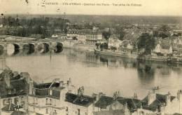 49 CPA SAUMUR - L'ILE D'OFFARD - QUARTIER DES PONTS - VUE PRISE DU CHATEAU - Saumur