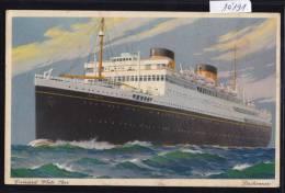 """Bateau : """"Britannic"""" - Cunard White Star Ca 1950 (10´191) - Paquebots"""