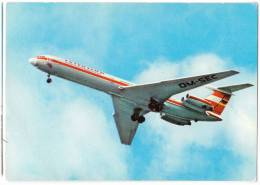 TRANSPORT AIRPLANE IL-62 IF INTERFLUG BERLIN GERMANY BIG CARD OLD POSTCARD - 1946-....: Moderne