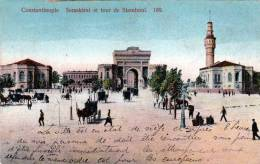 Türkei, CONSTANTINOPLE, Seraskerat Et Tour De Stamboul, Gelaufen 1899 - Türkei