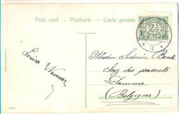 2n164: Fantasiekaartje: N° 55: OOSTBURG > DAMME Belgie - Periode 1891-1948 (Wilhelmina)