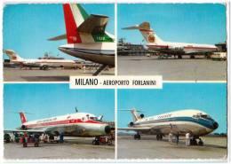 TRANSPORT AERODROME FARLANINI MILANO ITALY BIG CARD OLD POSTCARD 1971. - Aerodrome