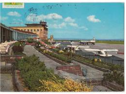 TRANSPORT AERODROME STUTTGART- ECHTERDINGEN GERMANY BIG CARD OLD POSTCARD 1973. - Aerodrome