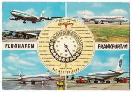 TRANSPORT AERODROME FRANKFURT/M. GERMANY BIG CARD OLD POSTCARD 1965. - Aerodrome