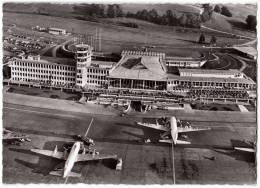 TRANSPORT AERODROME KLOTEN ZURICH SWITZERLAND BIG CARD OLD POSTCARD 1955. - Aerodrome