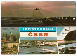 TRANSPORT AERODROME PRAHA ČSSR CZECHOSLOVAKIA BIG CARD OLD POSTCARD 1969. - Aerodrome