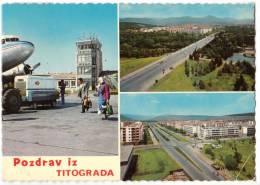 TRANSPORT AERODROME TITOGRAD MAKEDONIA YUGOSLAVIA BIG CARD OLD POSTCARD 1971. - Aerodrome