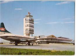 TRANSPORT AERODROME BEOGRAD SERBIA YUGOSLAVIA BIG CARD OLD POSTCARD 1967. - Aerodrome