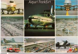 TRANSPORT AERODROME FRANKFURT GERMANY BIG CARD OLD POSTCARD - Aerodrome